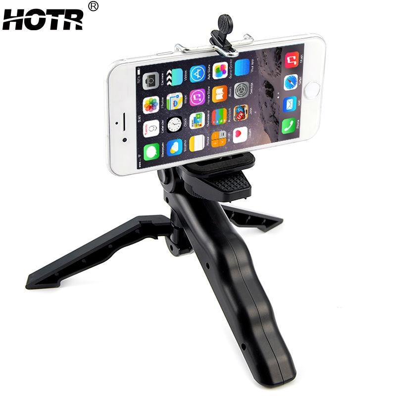 Rotatable Mobile Phone Tripod Stand Holder Handheld Camera