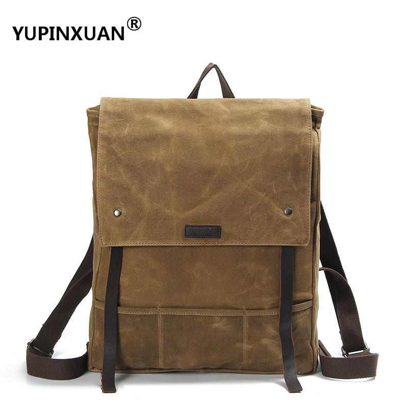YUPINXUAN Pure Cotton Lining Unisex 12 Waterproof Canvas Backpacks Thick Oil Wax Canvas Daypack Vintage Travel Rucksack Chile dc 5 24v electronic 2000p r resolution rotary encoder e6b2 cwz6c 2000p r