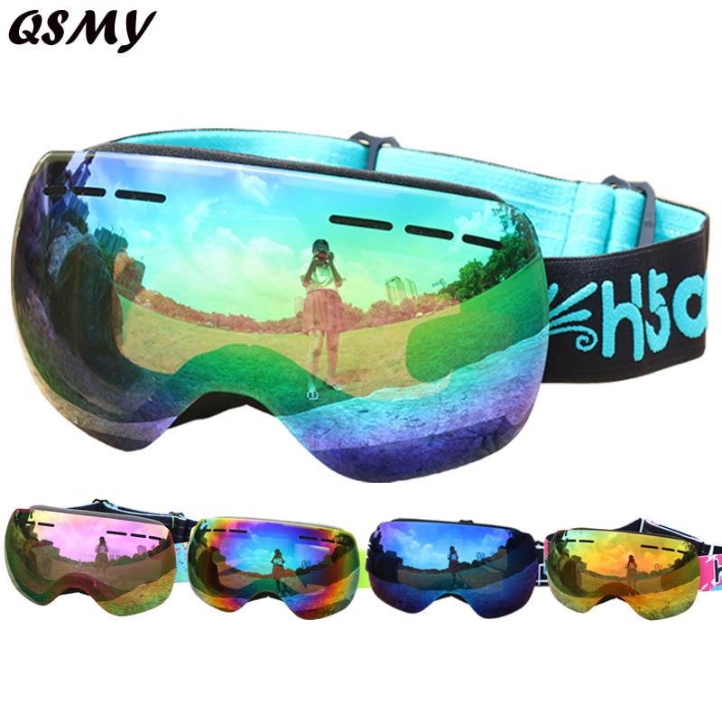 Бесплатная доставка Лидер продаж windersport двойные линзы UV400 Анти-туман Широкое Видение сферические лыжные очки лыжи унисекс зимние лыжные очк...