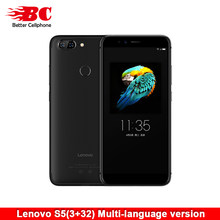 Original Global Lenovo S5 K520T Smart Phone Snapdragon 625 Octa-Core ZUI 3.7 2.0Ghz 3000mAh 16MP Face ID Fingerprint OTG 3GB32GB(China)