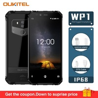 Original OUKITEL WP1 4G Mobile Phone Android 8.1 4GB RAM 64GB ROM Octa Core IP68 Waterproof 5.5 FHD Wireless Charge Smartphone