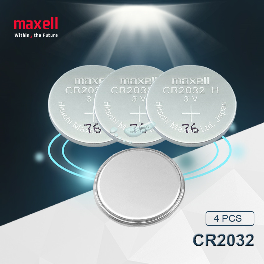 4pc Maxell Original Brand New Battery Cr2032 3v Button Cell Coin Batteries For Watch Computer Toy Remote Control Cr 2032
