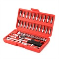 46 Pieces Combination Socket Set Ratchet tool Torque Wrench To Repair Auto Repair Hand Tools for car kit A Set OF Keys AD2001
