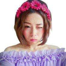 10 Colors Sunflower Hairband Headband Garland Bride Wedding Headwear Beach Accessories