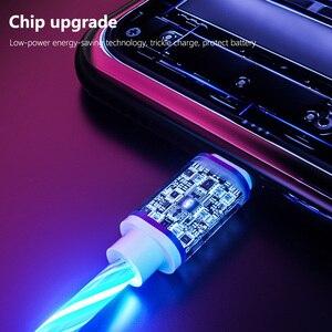 Image 5 - Светящийся кабель, мобильный телефон, кабели для зарядки, светодиодная подсветка, Micro USB, Type C, зарядное устройство для iPhone X, Samsung Galaxy S8, S9, зарядный провод
