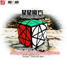 Qiyi Mofangge Пентакль Cube странно-образный Magic Cube Черный/Stickerless Скорость Cube головоломка звезда Twist Кубики Игрушки для для детей