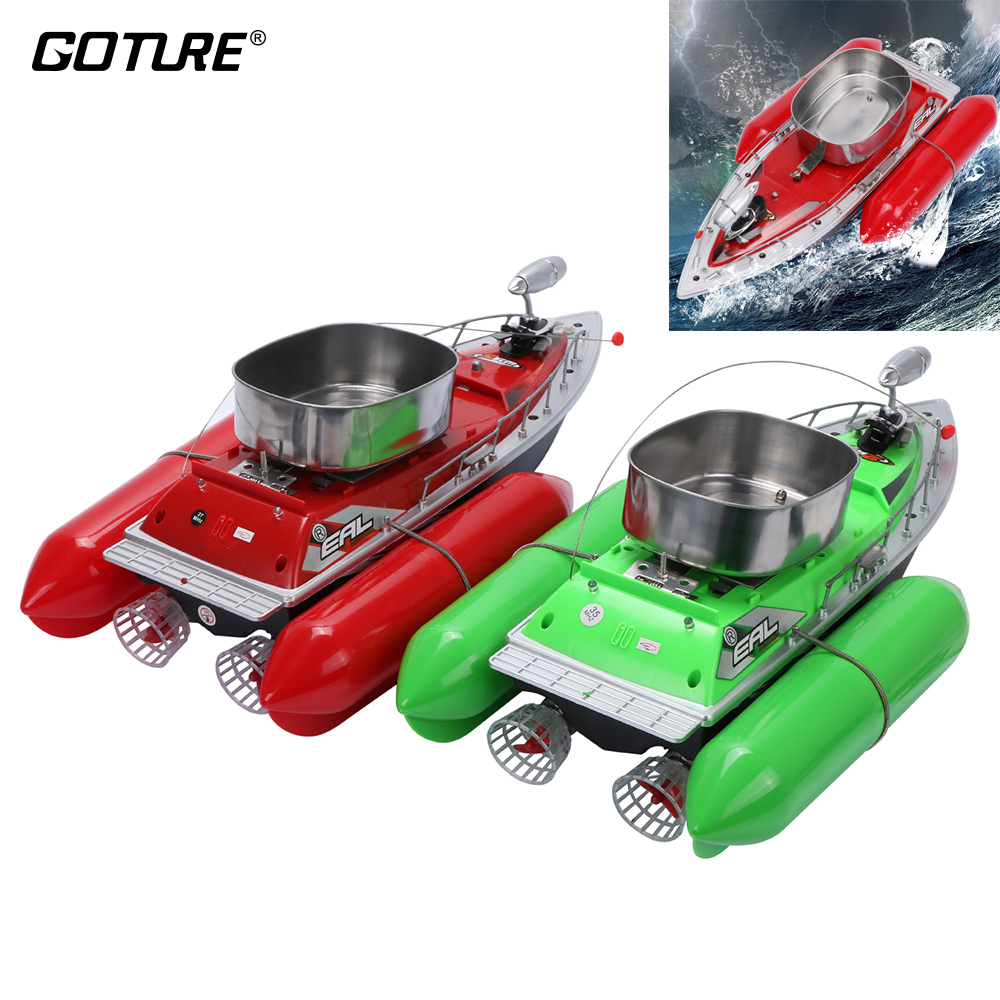 Goture Mini Remote Control Fish Finder Fishing Boat RC Fish Boat Lure Boat 5/7 Hours with LED Light Fishing Accessories mini fast electric fishing bait boat 300m remote control 500g lure fish finder feeder boat usb rechargeable 8hours 9600mah