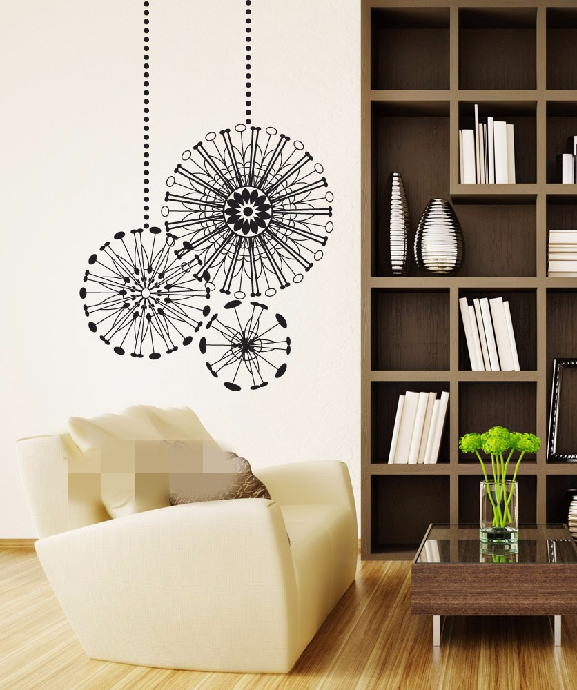 Free Shipping Radial Ornaments Graphic Wall Vinyl Sticker Decal ...