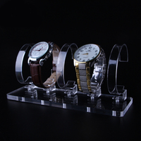 Acrylic Watch Display Holder Fine Exhibition Store Trade Show 5 Slots