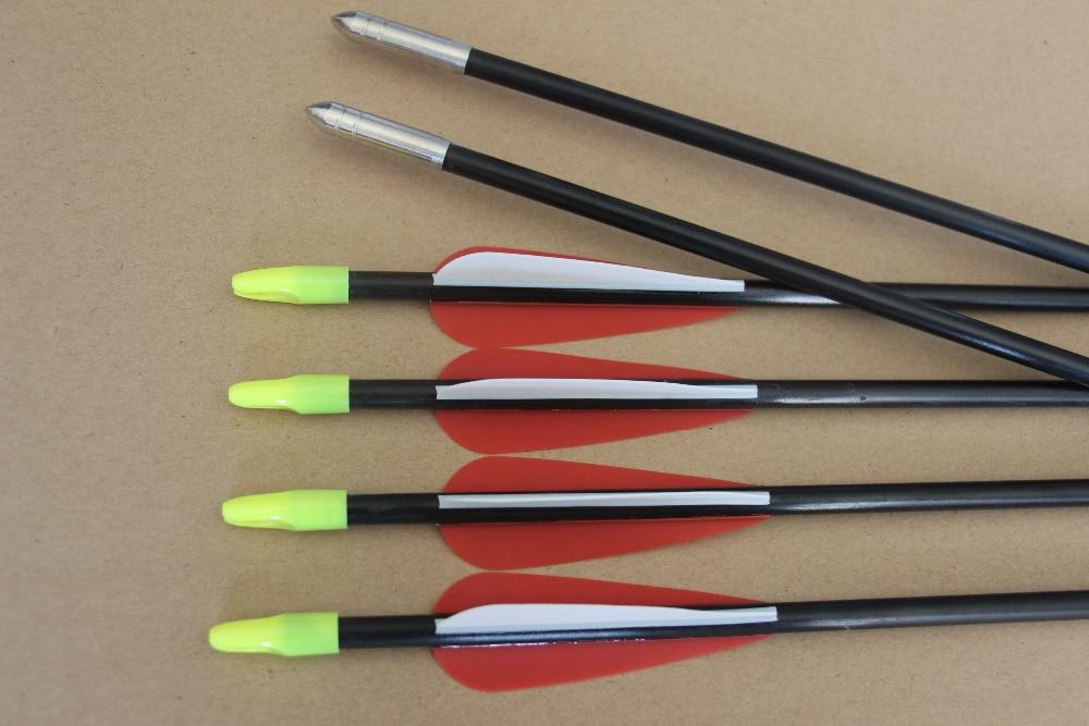 24Pcs High Quanlity Fiberglass 25 Arrow for Children Recurve Bow Target Practice ...