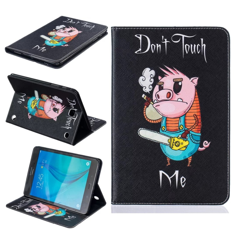 (Slim Fit) Stand Card Slot Folio Flip PU Leather Case Cover Skin Case For Samsung Galaxy Tab A 8.0 SM T350 P350 P355 T355C T355