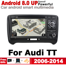 7 inch 2 Din Android 8.0 up Car DVD Radio Player For Audi TT 8J 2006~2014 MMI GPS Navigation Multimedia System