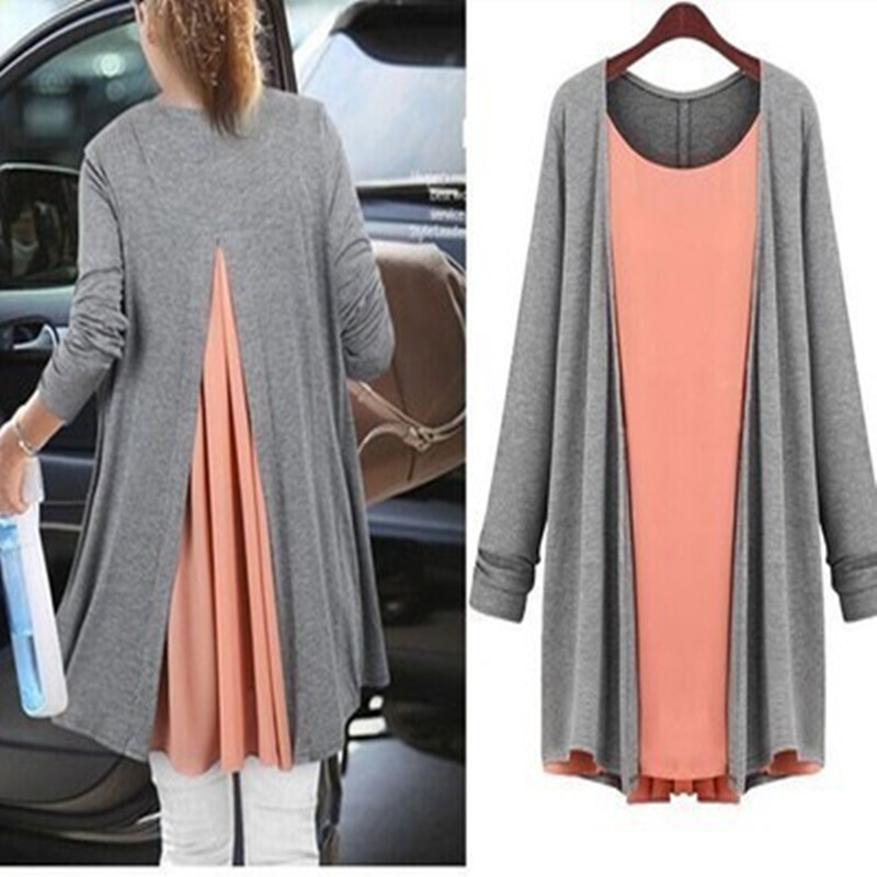 Two Piece Maternity Blouses Long Sleeved Spring Autumn Tops Maternity Clothes For Pregnant Women Dress Pregnancy Clothing TP05