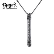Beier China Style New Store 316L Stainless Steel Luckly Money King Pendant For Men Golden Cudgel Fashion jewelry BP8-223(China)