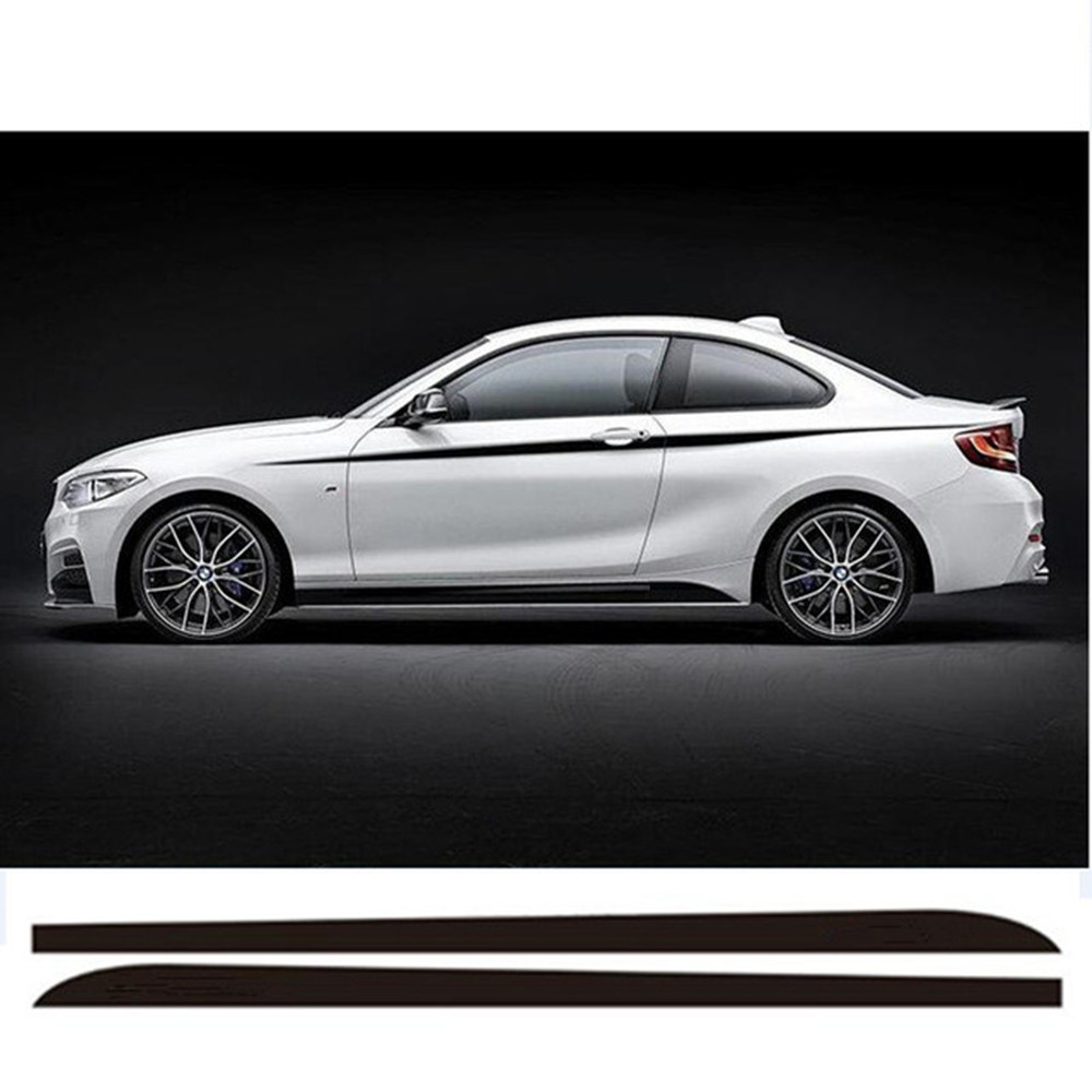 Bmw 228I Convertible >> Car Styling New M Performance Door Side Skirt Racing Stripe Sticker Decals For BMW 2 series F22 ...