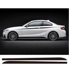 Par de Nuevo M Performance Lado Falda Franja de Carreras Calcomanías Etiqueta Engomada Para BMW 2 series F23 F22 220i 228i 235i