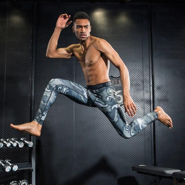 Hommes de compression sport en cours collants de basket-ball gym pantalon  musculation jogger jogging ad5ee18e2f6