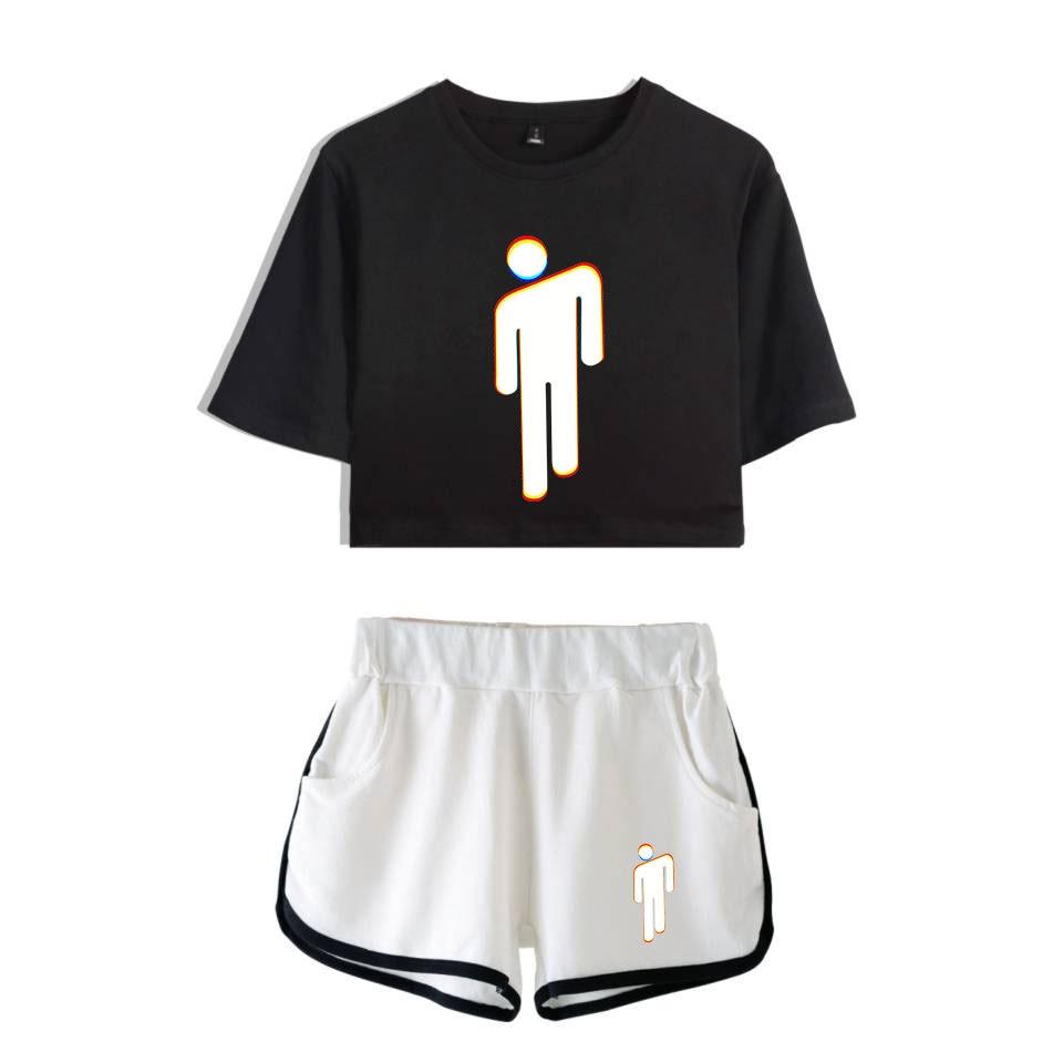 Set Billie Eilish Short T Shirt 28 Varian
