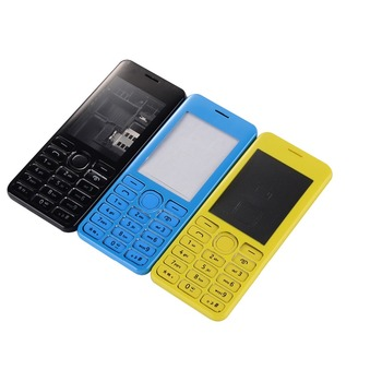 Full Housing Dual SIM Back cover Battery Door Case Cover Door Frame + Keypad For Nokia Asha 206 2060 Housing Cover Case image