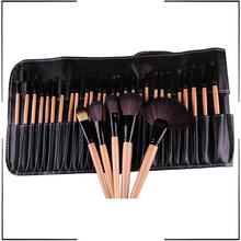 Facial Make Up Brushes 32 Pcs Cosmetic Makeup Brushes Set Cosmetic Brush Kit Maquiagem Goat Hair Brush with Leather Cosmetic Bag stylish 18 pcs portable fiber makeup brushes set with pu brush bag