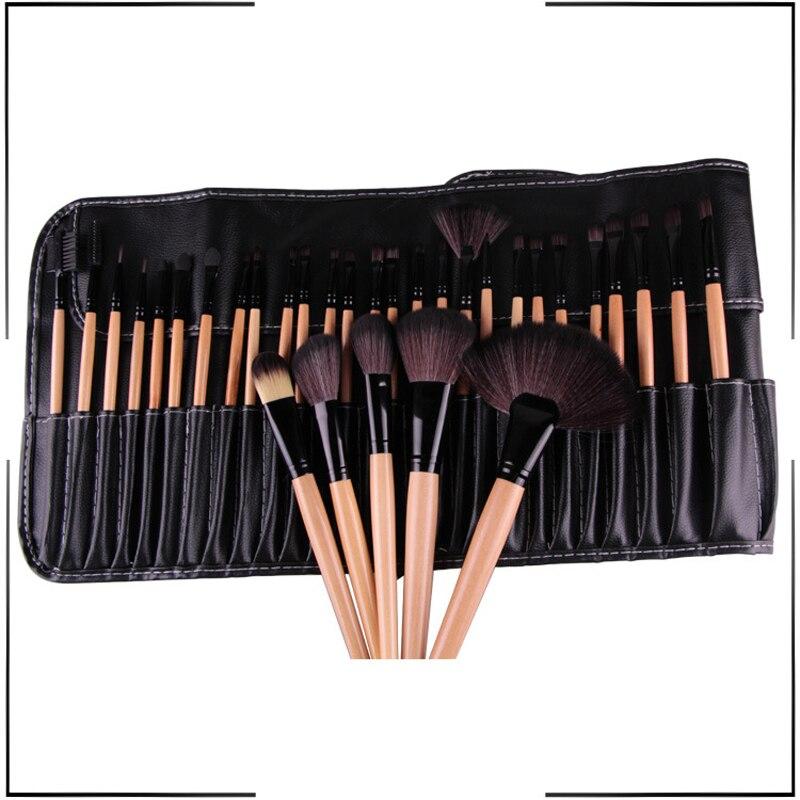 Visage Pinceaux De Maquillage 32 pièces Pinceaux De Maquillage Cosmétique Ensemble Kit De Brosse Cosmétique Maquiagem Chèvre Brosse À Cheveux avec Sac à Cosmétiques En Cuir