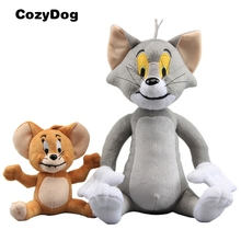 2 Pcs/Set Anime Tom & Jerry Plush Toy Doll Soft Stuffed Animals Cat and Mouse Toys for Children Gift