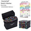 TouchFIVE 80 Colors Copic Sketch Markers Double Headed Alcohol Based Marker Set For Manga Marker