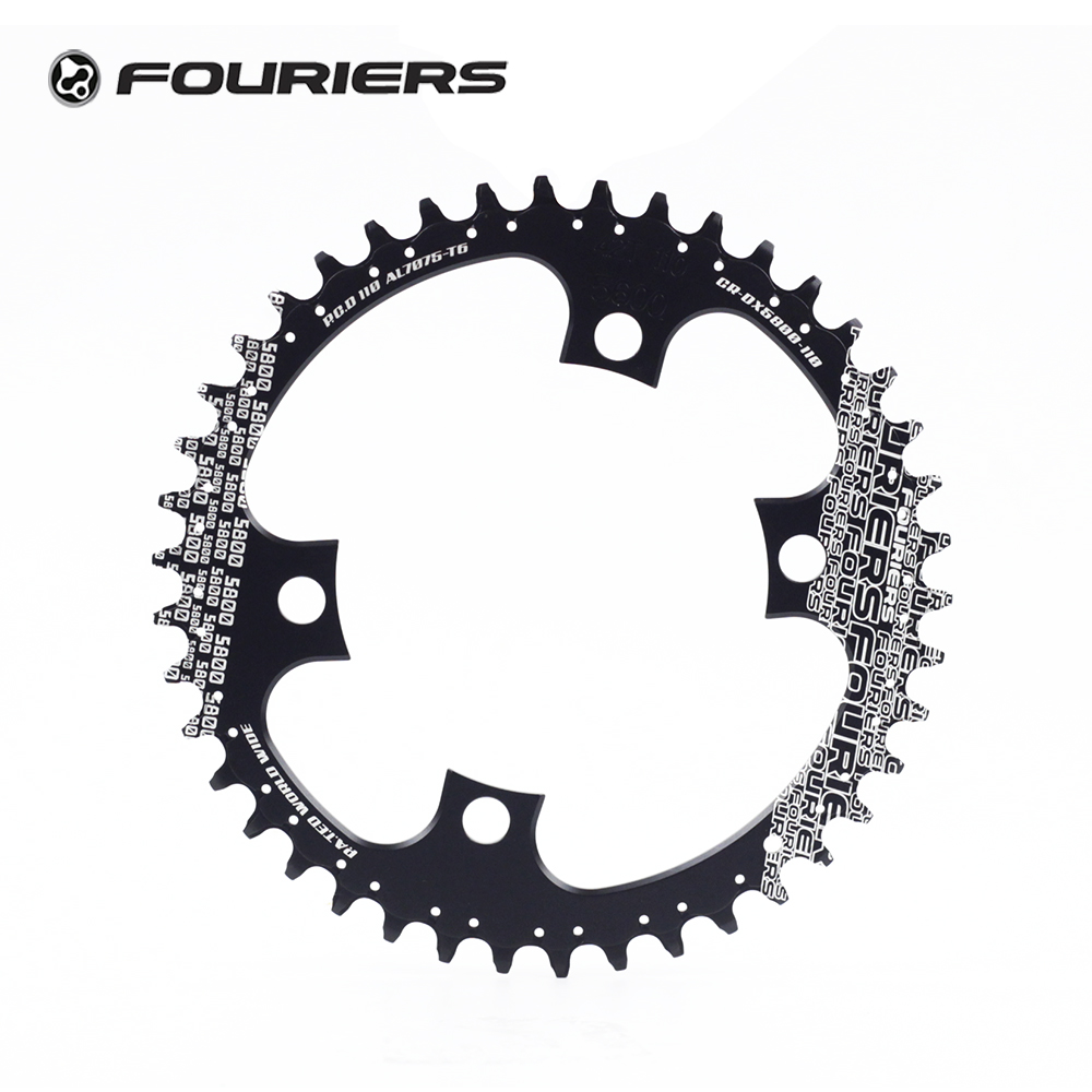 Fouriers Single Chainring Road Bike Chainwheel BCD110 Fit 105 5800 Ultegra 6800
