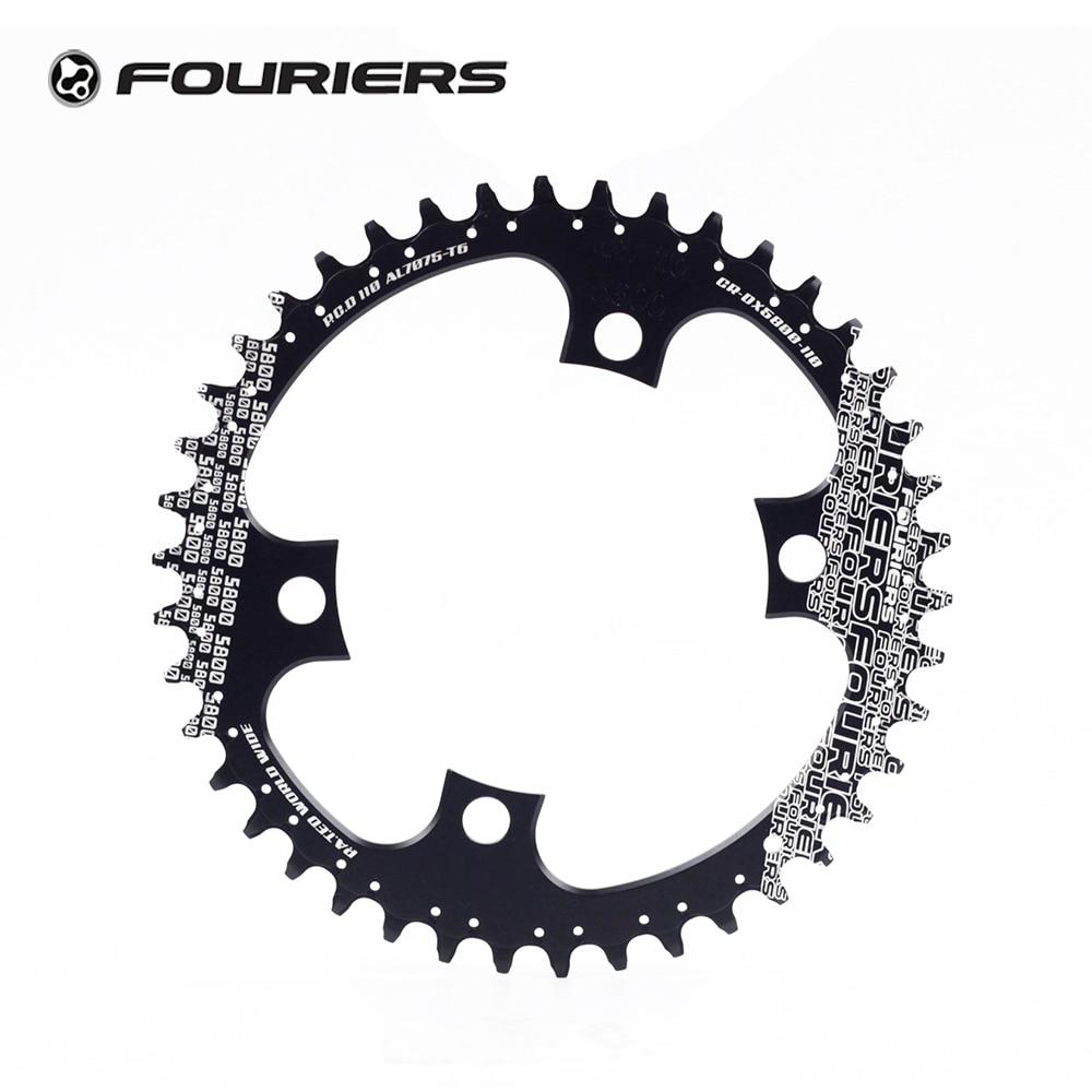 Fouriers vélo simple plateau BCD 110 42 t 46 t 48 t dents larges étroites Fit 105 5800 Ultegra 6800 11 vitesses 11 s vélo de route