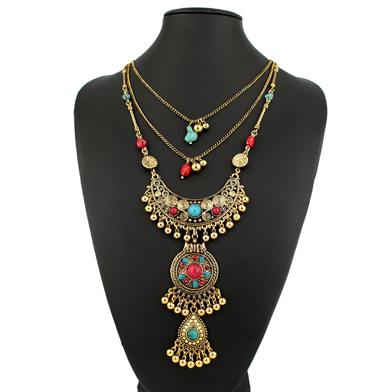 2015 Luxury New design vintage boho Necklace long Chain ...