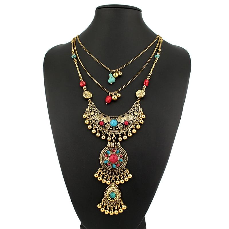 2015 Luxury New design vintage boho Necklace long Chain