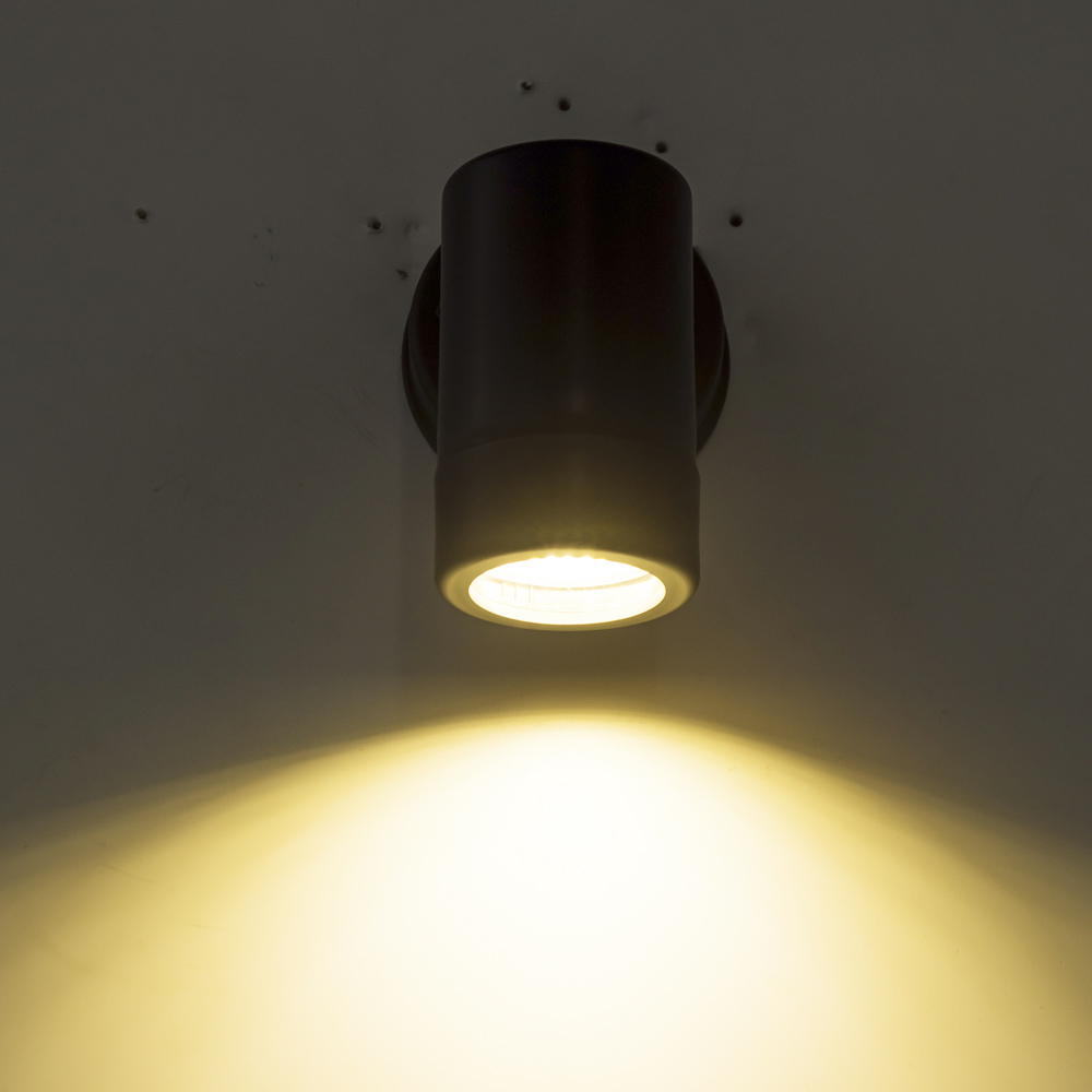 Single-head Up Down Wall Light GU10 Plastic Indoor Outdoor LED Modern Decor