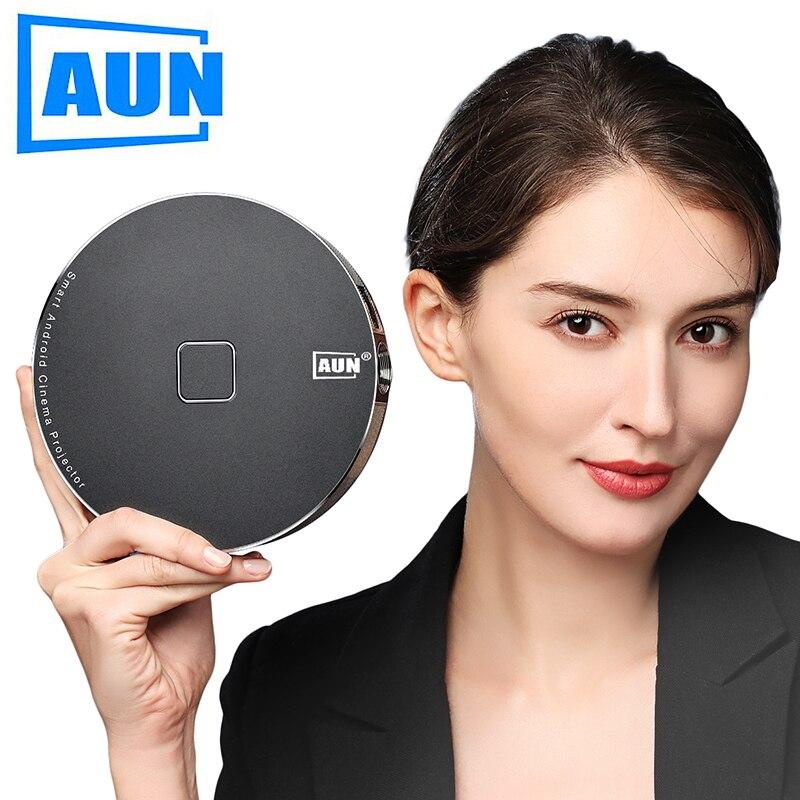 Marque AUN 3D Projecteur, 1280x720 Resolution.12000mAH Batterie, Android WIFI. MINI Projecteur pour Home Cinéma, bureau. 1080 p, 4 k, D8S