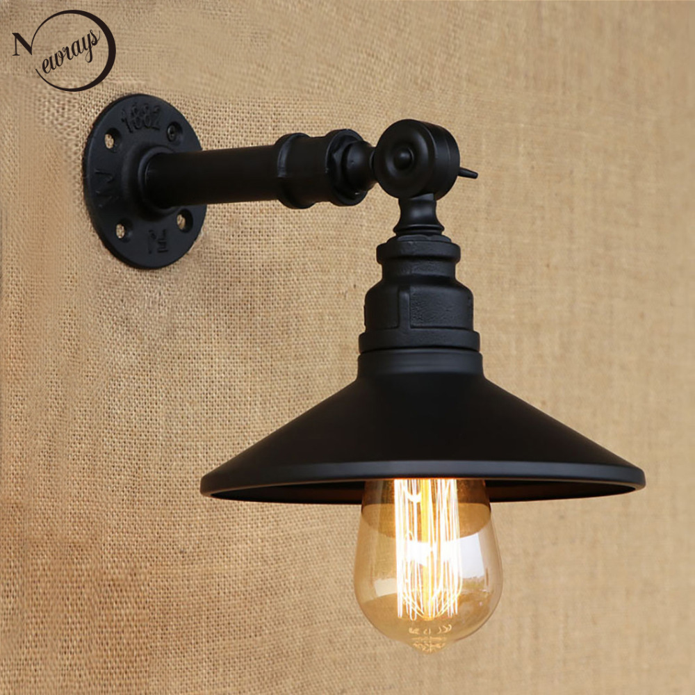 Vintage Loft 4 color iron rust Steampunk pipe retro wall lamp e27 / e26 sconce lights for living room bedroom bar coffee steampunk loft 4 color iron water pipe retro wall lamp vintage e27 e26 sconce lights for living room bedroom restaurant bar