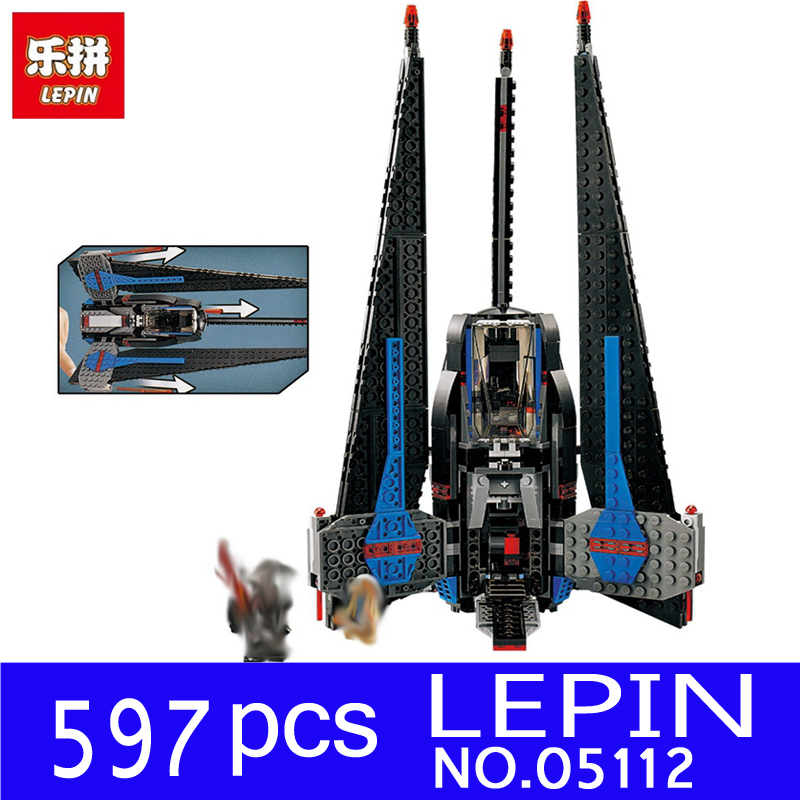 Lepin 05112 597Pcs Star Series War The Tracker I Fighter Set Children Educational Building Blocks Bricks Toy Model 75185 rollercoasters the war of the worlds