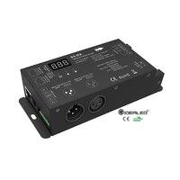 AC110V/220V High voltage LED Strip DMX decoder with XLR3 and RJ45 Input AC100-240V output 3*2A
