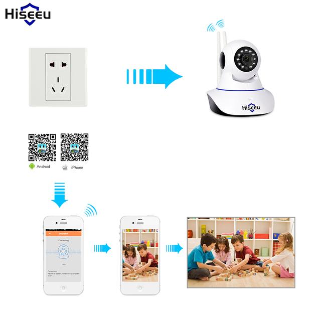 Hiseeu Home Security 720P 1080P Wifi IP Camera Audio Record SD Card Memory P2P HD CCTV Surveillance Wireless Camera Baby Monitor