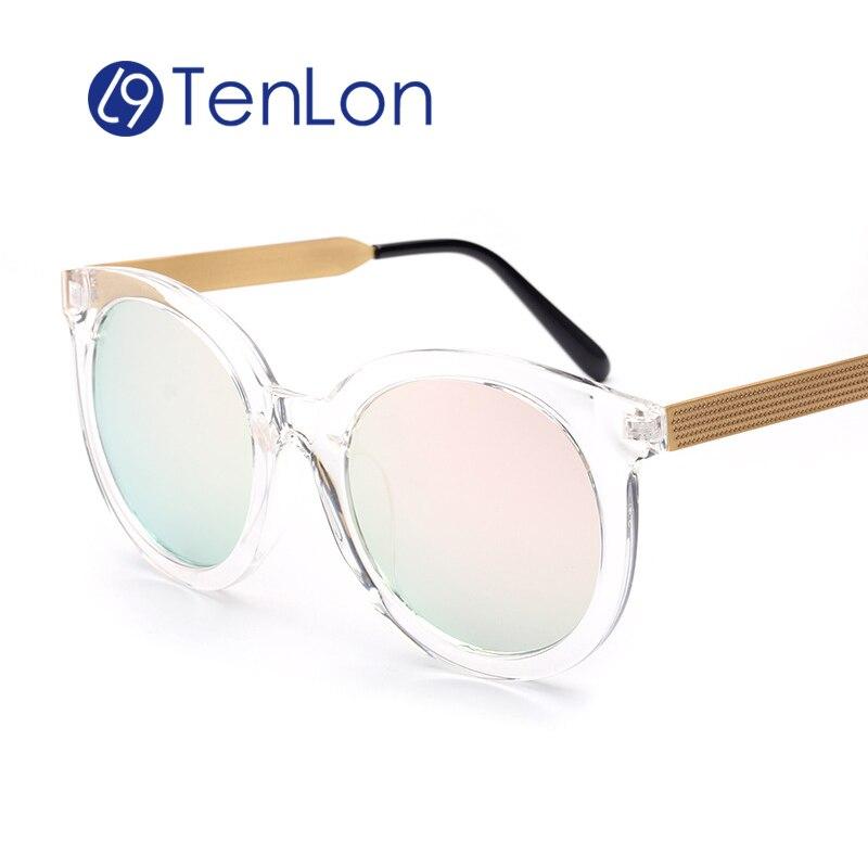 YYTZM Gafas Redondas Marco Grueso de Las Mujeres gafas de Sol ...