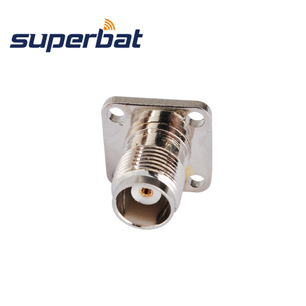 Superbat 10pcs Free Shipping TNC 4 Hole Panel Mount Jack Female With Solder Cup RF Connector Straight