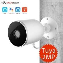 Tuya câmera inteligente de segurança residencial, wi fi ip 1080p câmera de vigilância residencial visão noturna infravermelho áudio bidirecional