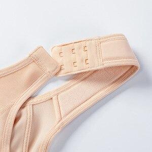 Image 5 - Sutiã de apoio traseiro não acolchoado sem fio de fechamento frontal de cobertura completa feminina