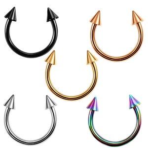1 шт., хит продаж, кольцо для носа, подковы, носовая перегородка, кольцо G23 из титана, Круглый пирсинг для хрящевой части уха, тела, ювелирных изделий