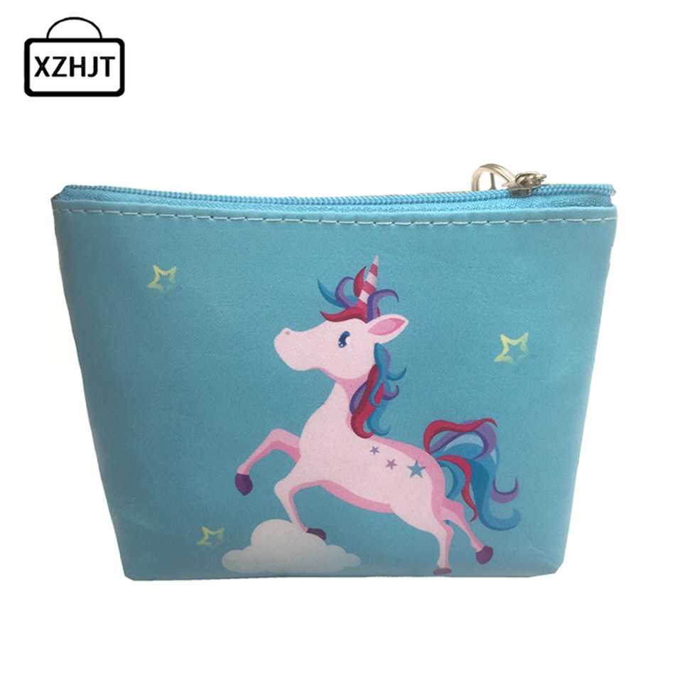 Cute Animal Unicorn Coin Purses Holders Kawaii Girls Women Small Change Wallets Money Bag Coin Bag Children Zipper Pouch Gift