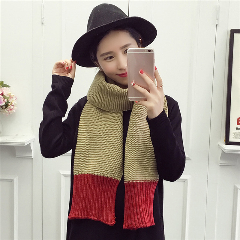 1f132173f7a  2533 Fashion Women Two-color Stitching Wave Pattern Scarf Long Section  Lady Scarf D45