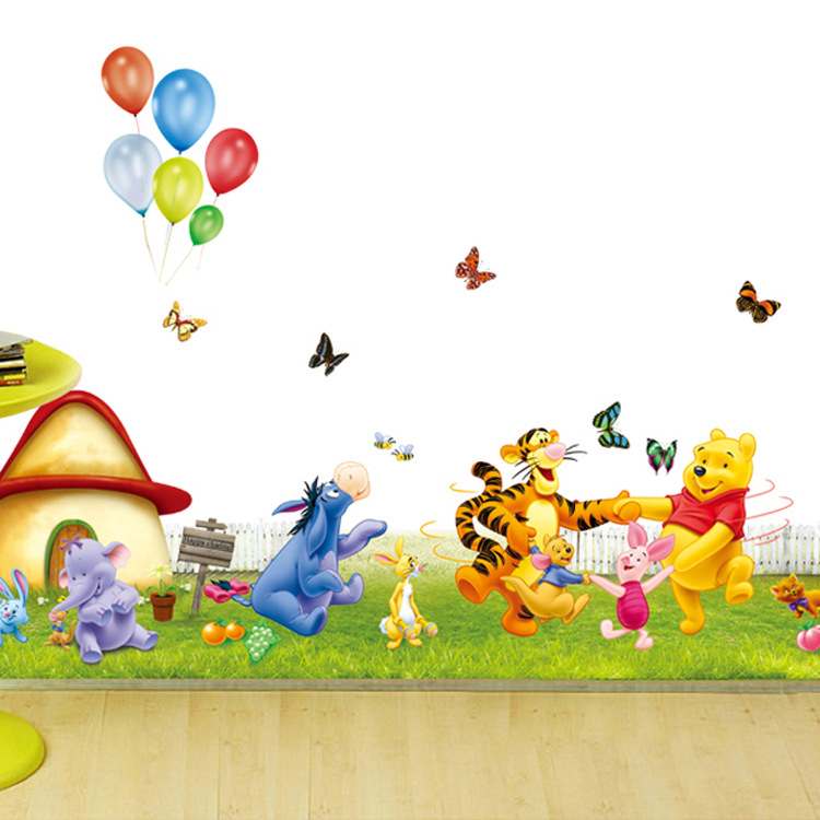Cute Winnie The Pooh Removable Wall Stickers For Kids Room Home Decor Baby Nursery Decal Wallpaper Child Birthday Gifts