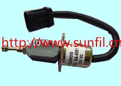 WHOLESALE FUEL SHUT OFF SOLENOID DIESEL 5.9L 3800723 / SA-4981-24,24V,5PCS/LOT new diesel shut off solenoid 3930234 for cummins 6ct 8 3l komatsu excavator