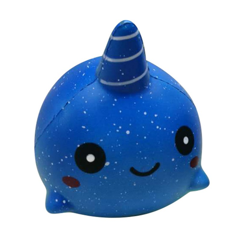 11*7*9CM Jumbo Slow Rising Unicorn Whale Cute Red Tail Dolphin Squeeze Scented Bread Cake Kid Fun Toy Gift Colorful j2