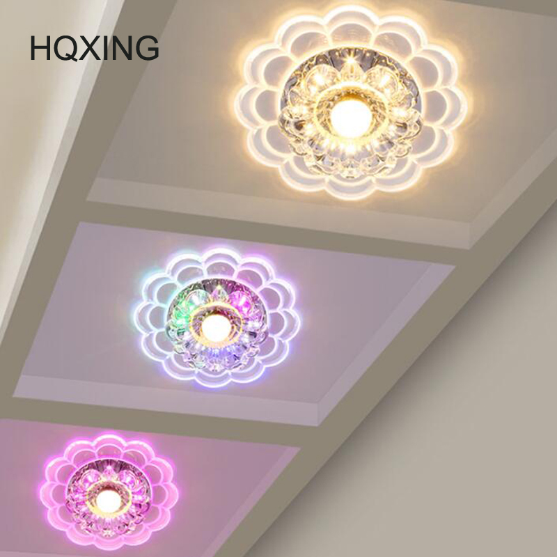 HQXING Modern spot crystal led Ceiling Lamp Aisle Veranda Lighting Down Surface Mounted LED Ceiling Lights Corridor Mirror lamp штатив monopod z07 5 bluetooth black for selfie