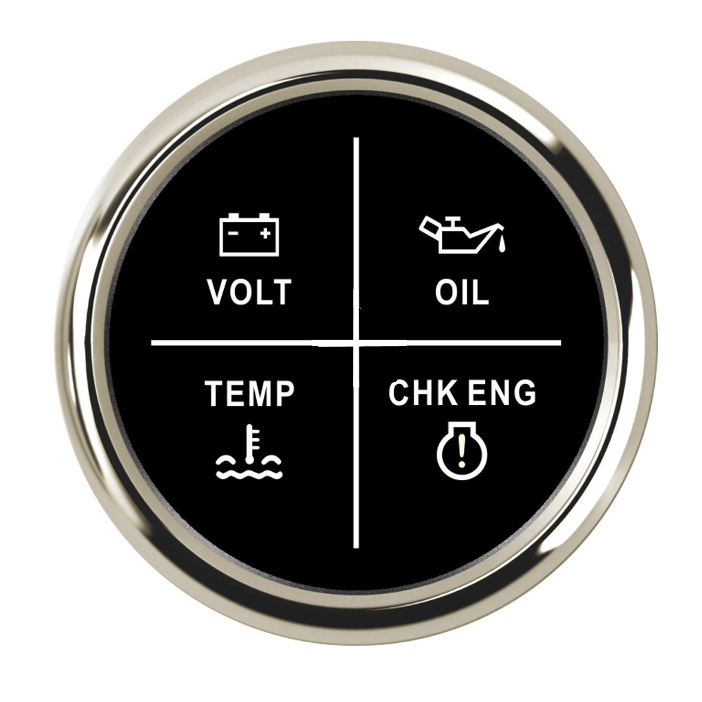 Generous Universal 52mm Car 4 Led Alarm Gauge Meter Oil Pressure Water Temp Engine Alarm 9-32v For Auto Truck With Red Backlight