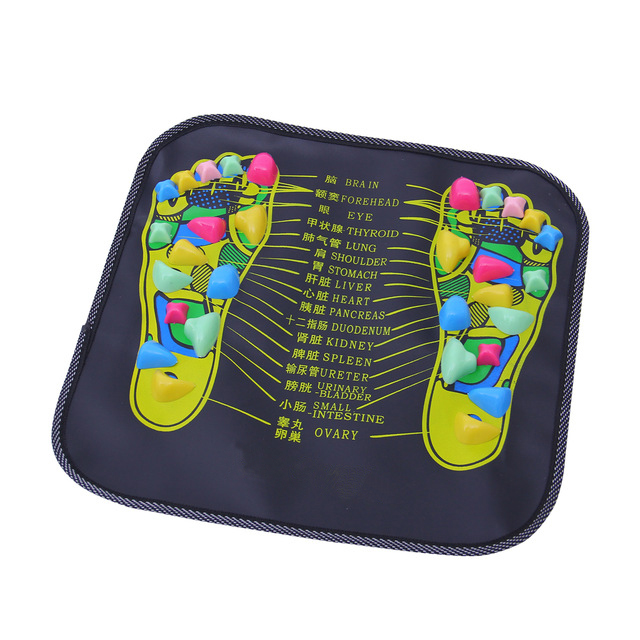 Home Use Plastic Foot Massager Cushion Pad Acupuncture Cobblestone Yoga Mat Walk Stone Square Healthy Pad Cushion| |   - AliExpress